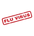 Flu Virus Rubber Stamp vector image vector image