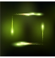 frame formed by lights and sparkles vector image vector image