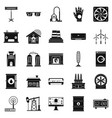 generator icons set simple style vector image vector image