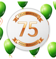 Golden number seventy five years anniversary vector image vector image