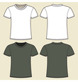 Gray and white t-shirt design template vector image vector image