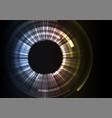 grey circle digital abstract background vector image vector image