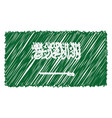 hand drawn national flag of saudi arabia isolated vector image vector image