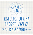hand font Alphabet sketch vector image vector image