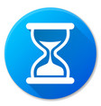 hourglass blue circle icon design vector image