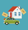 House and Car for Sale vector image