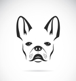 image of an dog bulldog vector image