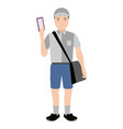 isolated mailman avatar vector image