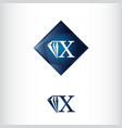 letter x and diamond shape luxury creative logo vector image