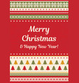 merry christmas knitted background vector image