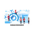 mix race business people group team human resource vector image vector image