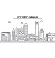 new jersey newark architecture line skyline vector image vector image