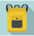 notebook backpack icon flat style vector image vector image
