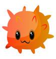 orange cute monster on white backgroundprint vector image vector image