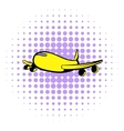 Passenger airliner icon comics style vector image vector image