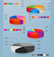 pie charts set multi-colored pie chart vector image