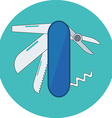 Pocketknife multi-tool Skill competence concept vector image