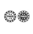 poker chip queen texas holdem clubs playing card vector image