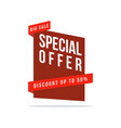 price label spesial offer sale collection style vector image