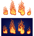 Red flame set vector image