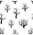 seamless black and white curved trees vector image vector image