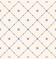 seamless pattern with diagonal square grid stars vector image vector image