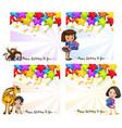 set birthday card vector image vector image