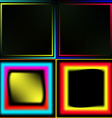 Set of neon frames vector image vector image