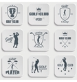 Set of vintage golf labels vector image vector image