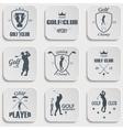 set vintage golf labels vector image