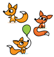 set with foxes vector image vector image