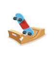 skateboard halfpipe ramp field skate park sport vector image