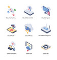 tourism isometric icons vector image