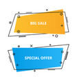 trendy promotion business bannersspeech bubbles vector image vector image