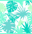 tropic in natural green colors vector image vector image