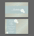 vintage wedding invitation templates cover design vector image vector image