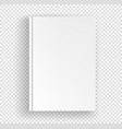 white book a4 format mock up isolated on vector image