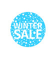 winter sale banner in the form of a blue ball vector image vector image