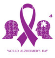 world alzheimer day vector image