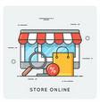store online flat line art style concept vector image