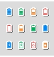 Battery Icons Set as Labes vector image