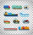 transportation icons on transparent background vector image