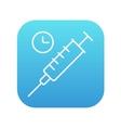 Syringe line icon vector image