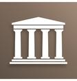 Architecture greek symbol vector image