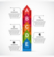 abstract options infographic template vector image