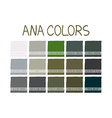 ANA No 2 Color Tone with Name vector image