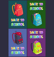 Back to school posters set