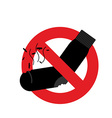 Ban dirty smelly socks Mark is prohibited vector image vector image