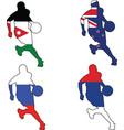 basketball colors of Jordan New Zealand Russia Ser vector image