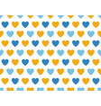 blue and yellow heart shape pattern vector image vector image